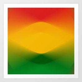 Rasta Color Harmony Art Print