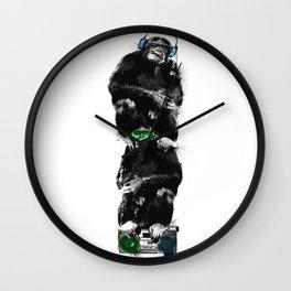 Monkey Music Retro Boombox. Wall Clock