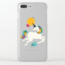 To be a unicorn Clear iPhone Case