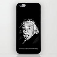 einstein iPhone & iPod Skins featuring Einstein by Michelena