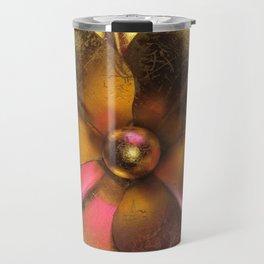 Gold Flower Travel Mug