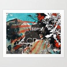 Funky Wall - 2 Art Print