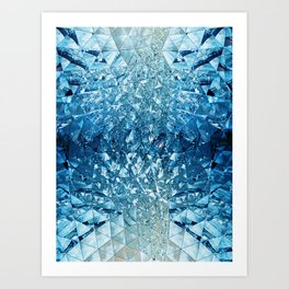 Blue Sky in Mirrors Art Print