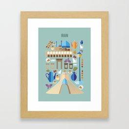 Iran Illustration Framed Art Print