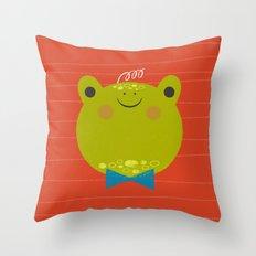 Dressy Froggy Throw Pillow