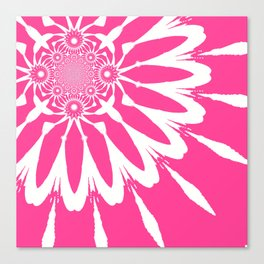 The Modern Flower pink Canvas Print