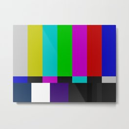 SMPTE Color Bars (as seen on TV) Metal Print