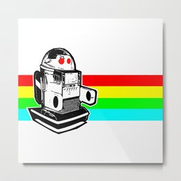 Robo Rainbow Metal Print