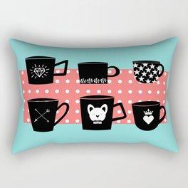 Coffee Mugs Collection Rectangular Pillow