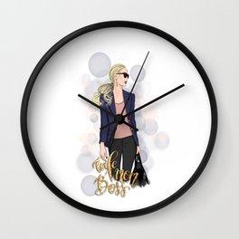 Boss Lady | Wife Mom Boss Wall Clock