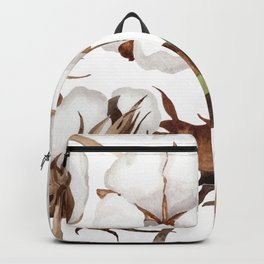 Cotton Flower Pattern 01 Backpack