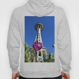 Purple Flower and Space Needle Hoody