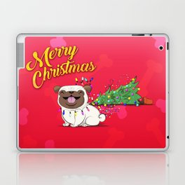 Koko Pug Christmas Red Laptop & iPad Skin