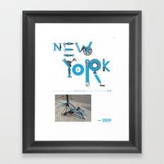 Bike to Life - New York Framed Art Print