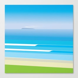 Sunny Beach — View from Omanu Beach Canvas Print