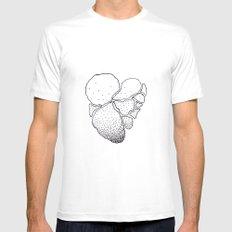 HEART Mens Fitted Tee White MEDIUM