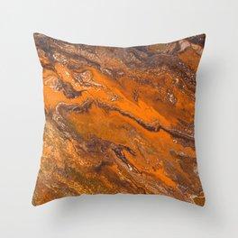 Amber Fire Throw Pillow