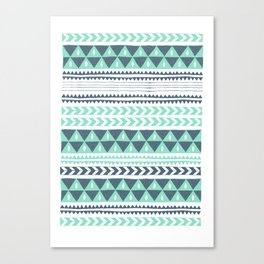 Winter Stripe Canvas Print