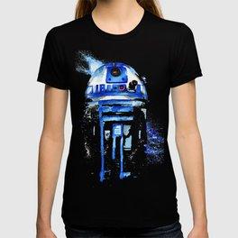 R2-D2 R2D2 droid watercolor Wars Scifi Star FAnart T-shirt