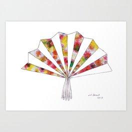 swirls - fan  Art Print
