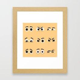 Pack of nice character eyes Framed Art Print