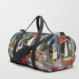 Times Square II (pastel paint style) Duffle Bag