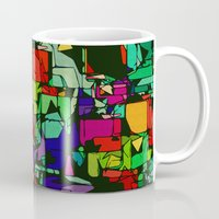 metropolis Mugs featuring Toon Metropolis by Glanoramay