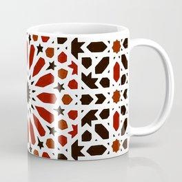 Red Geometric Moroccan Traditional Tiles Artwork. Coffee Mug