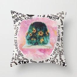 Peace Wordstorms Throw Pillow