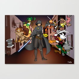 Callous Comics - Chronicles of the Black Queen Canvas Print