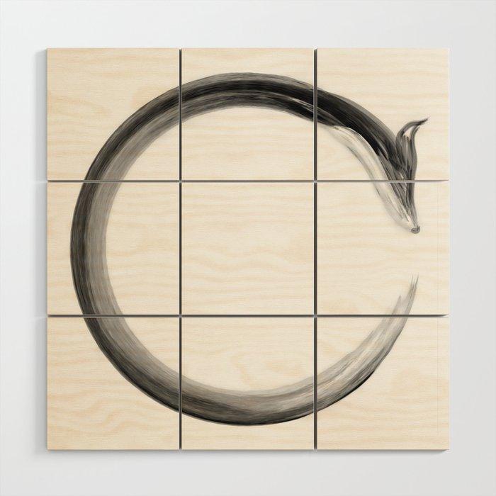 CalmFox Enso Wood Wall Art