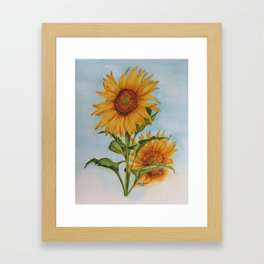 Sunflowers & Ladybugs for Jess Framed Art Print