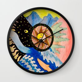 Earth, Wind and Sea Wall Clock