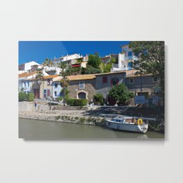 old houses on the canal du midi, france 2 Metal Print