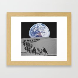Earth caravan Framed Art Print