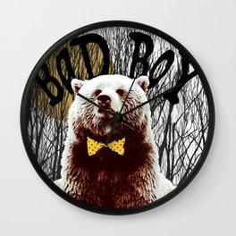 Bad Boy Bear Wall Clock
