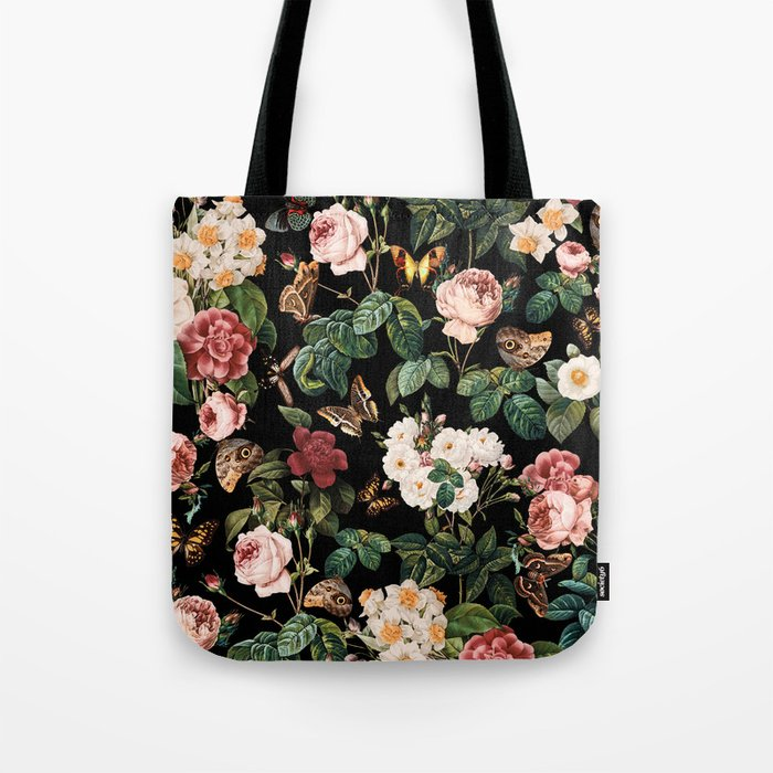 Floral and Butterflies Tote Bag
