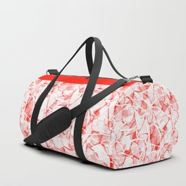White red abstract Duffle Bag