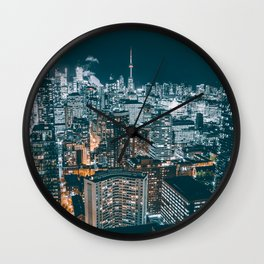 Toronto in the dark Wall Clock