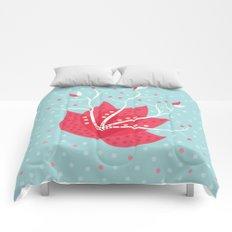 Exotic Winter Flower Comforters