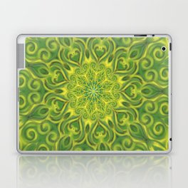 Green and Yellow center Swirl Pattern Laptop & iPad Skin