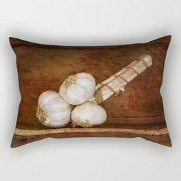 Bunch of garlic heads Rectangular Pillow
