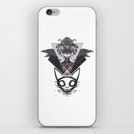 Witch, Crows, Cat Skull, And All Seeing Eye Of Providence iPhone Skin