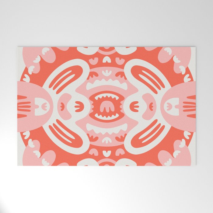 Mouth Mandala Welcome Mat