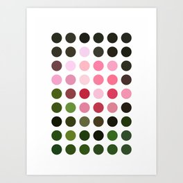 Pink Roses in Anzures 3 Dots Art Print