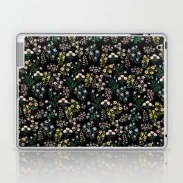 Spring Bloom Black Laptop & iPad Skin