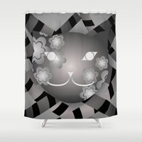 meow Shower Curtains featuring Meow by ArigigiPixel