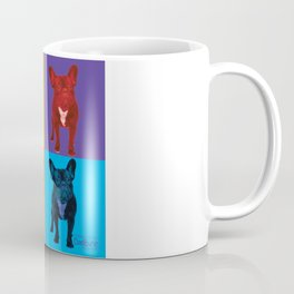 Four French Bulldogs by Crow Creek Coolture Coffee Mug