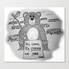 Sad bear 2 Canvas Print