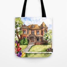 Victorian Mansion in the Spring Tote Bag